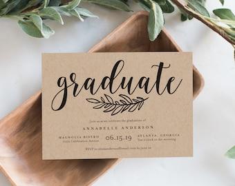 graduation invitations etsy