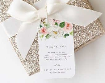 Editable Template - Instant Download Spring Romance Wedding Gift Tags