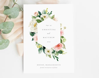 Editable Template - Instant Download Spring Romance Save the Date Announcement