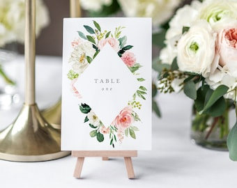 Editable Template - Instant Download Spring Romance Table Numbers