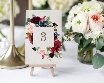 Editable Template - Instant Download Fall Elegance Table Numbers