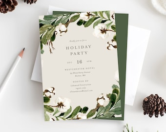 Editable Template - Instant Download Southern Holiday Party Invitation