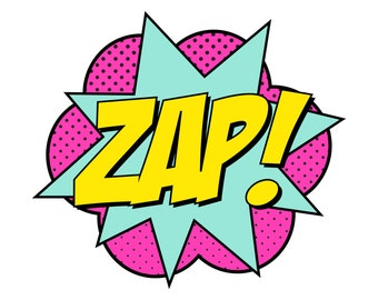 Instant Download - Supergirl Zap Sign