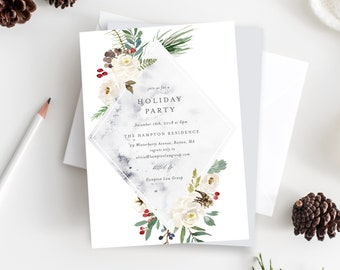 Editable Template - Instant Download Mystic Holiday Party Invitation
