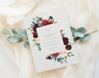 Editable Template - Instant Download Fall Elegance Baby Shower Invitation