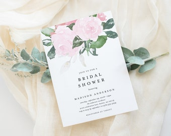 Editable Template - Instant Download Chic Romance Bridal Shower Invitation