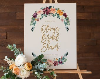Fall in Love Bridal Shower Large Display Sign
