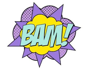 Instant Download - Supergirl Bam Sign
