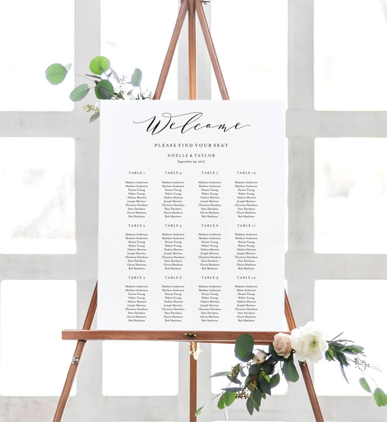 Editable Template  Instant Download Soft Calligraphy Guest image 0