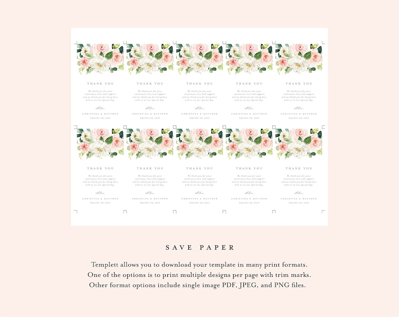 Editable Template Instant Download Dusty Blue Florals Wedding Water Bottle Labels 003