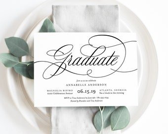 Editable Template - Instant Download Musical Graduation Party Invitation