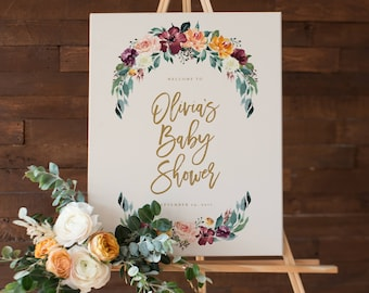 Fall in Love Baby Shower Large Display Sign