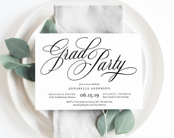 Editable Template - Instant Download Musical Grad Party Invitation