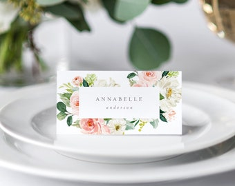 Editable Template - Instant Download Spring Romance Place Cards