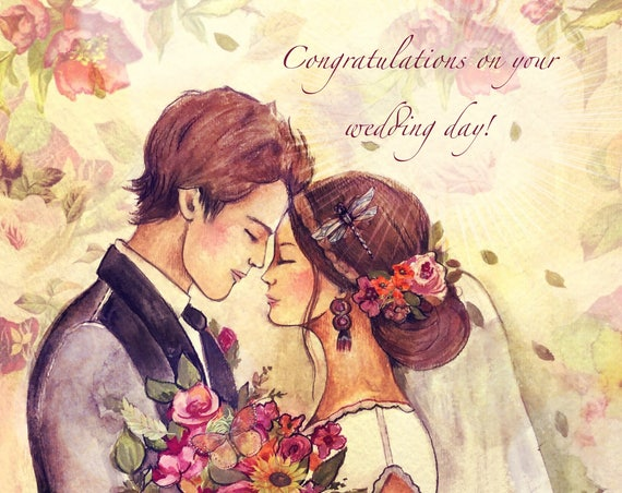 Congratulations on your wedding, love, gift art