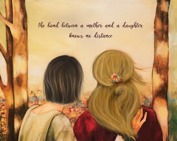 The bond between a mother and daughter knows no distance