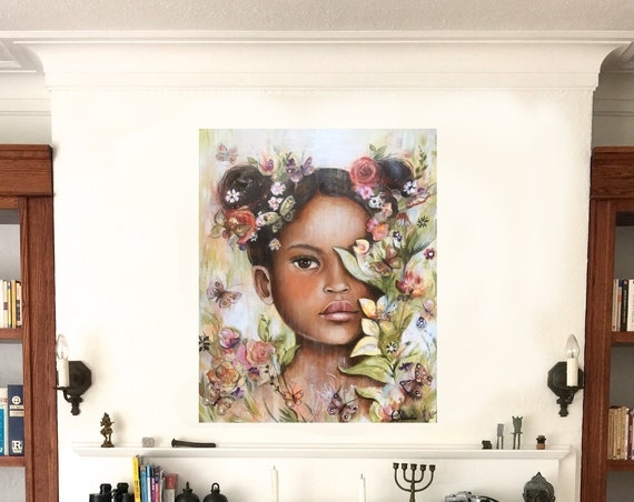 Tanya on PRINTED  canvas