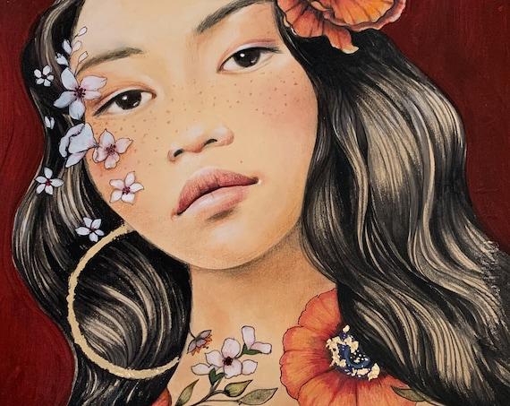 Akita original art work
