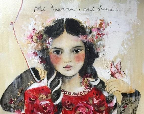 Laura  art on canvas