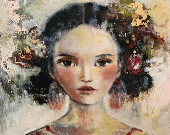 female empowerment, art print ,woman art,  portrait artwork ,claudia tremblay