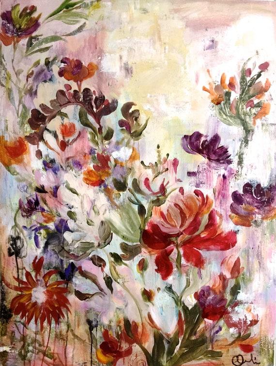 abstract bouquet boho chic decor