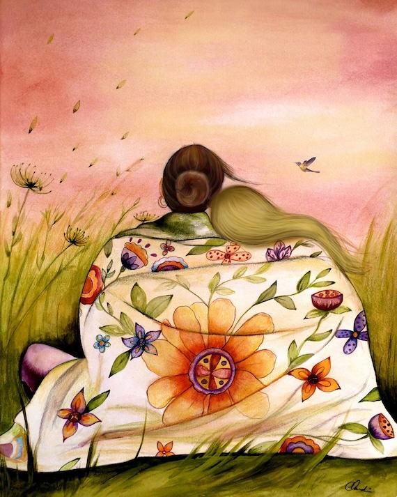 gift for mom, wall art decor, love, artwork, gift for  daughter, Mother's day  gift art print