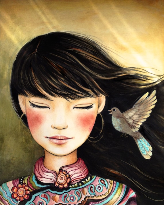 female empowerment,art print ,drawing, love, portrait artwork ,claudia tremblay Listen to the song art print