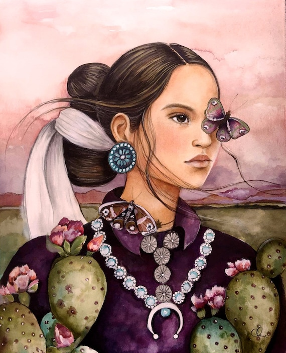 Navajo inspired woman