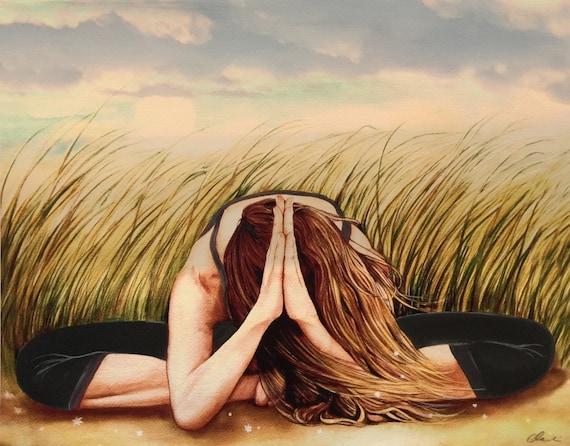 Namaste yoga  meditation decor art print
