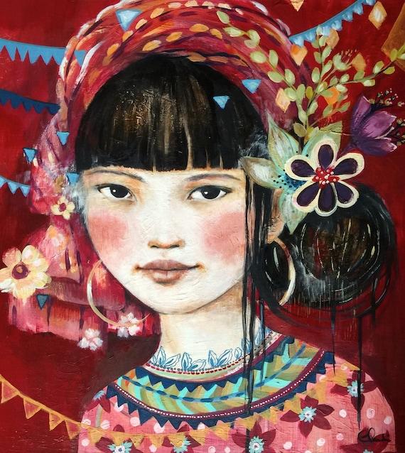 gift for mom, wall art decor, love, artwork, Felicity art print