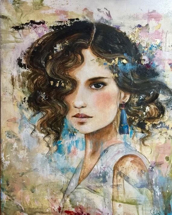 female empowerment,art print ,drawing, love, portrait artwork ,claudia tremblay Ana