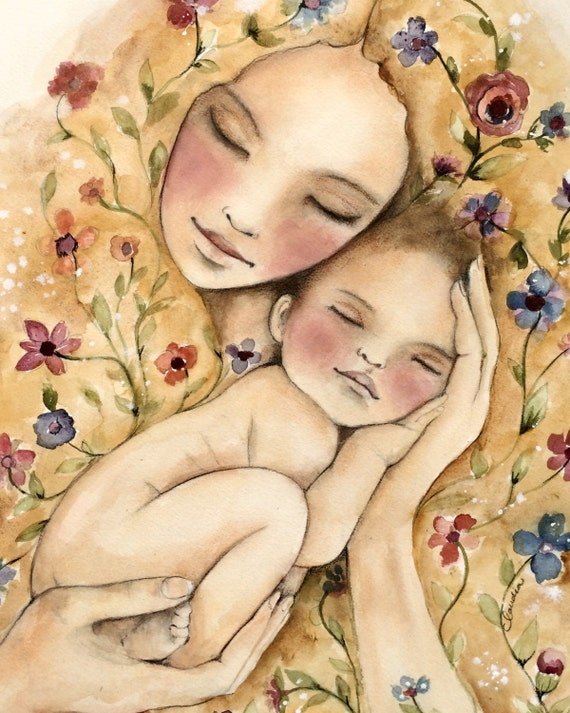 gift for mom, wall art decor, love, artwork, gift for  daughter, my new world art print