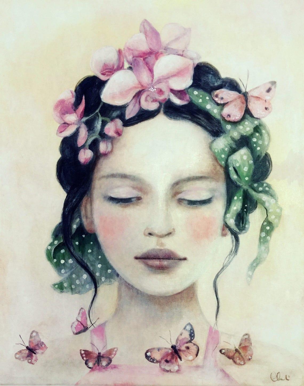female empowerment art print woman artwork  portrait image 0