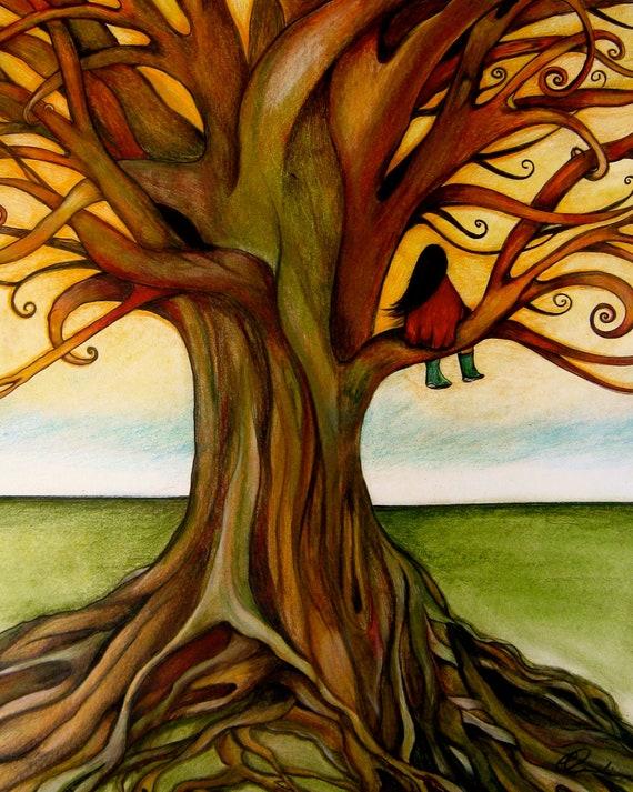 The infinite tree art print.