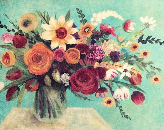 Wild flowers art