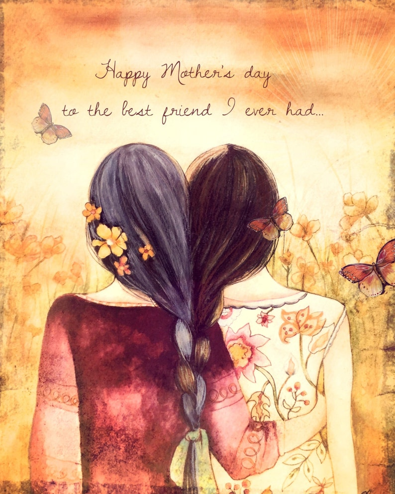 Happy mother's day to the best friend i ever had art | Etsy