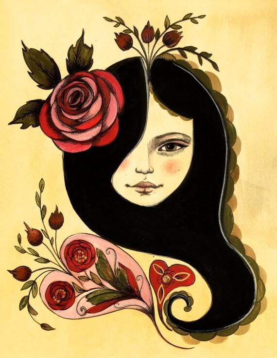 Rosalie, art print