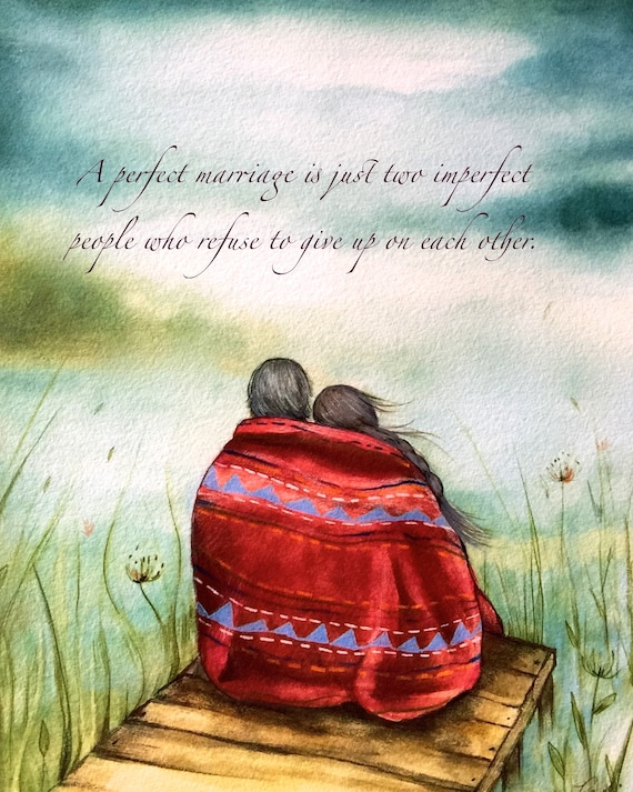 couples gift, anniversary gifts for couple, anniversary gifts for parents, couple artwork, The red blanket art print
