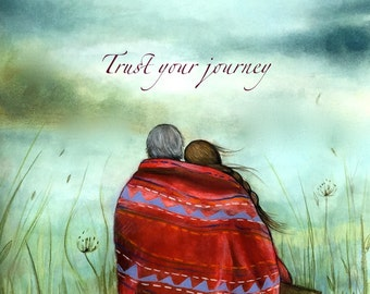 Trust your journey art print