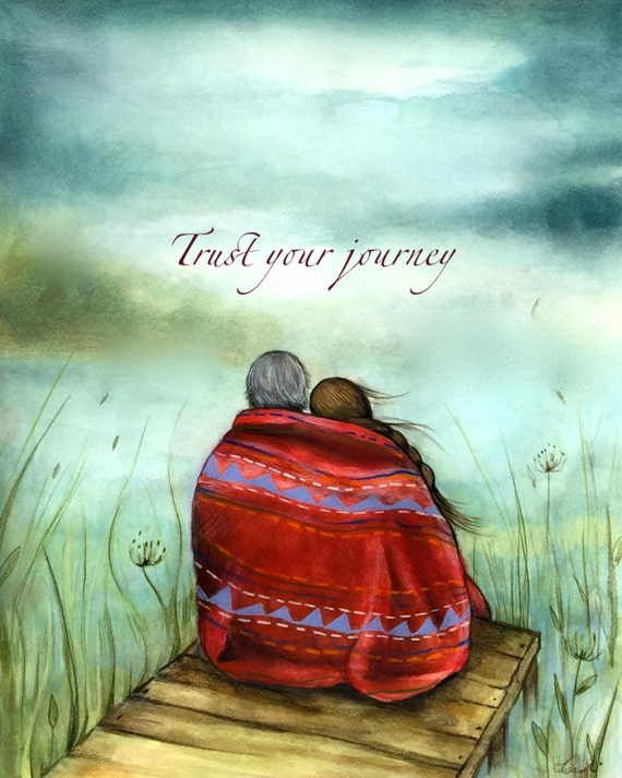 Trust your journey art print