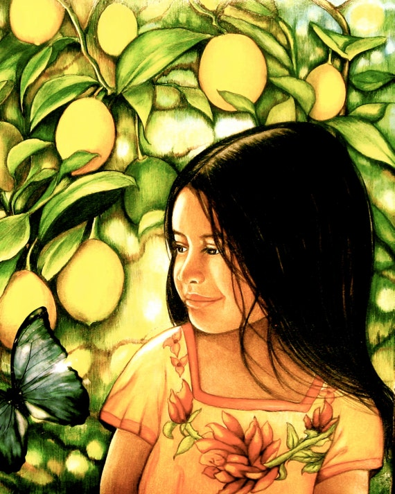 girl with lemons guatemala