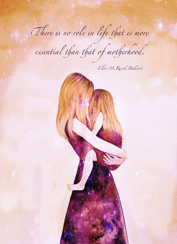 """Mother and daughter """"their own world"""".. Motherhood quote"""