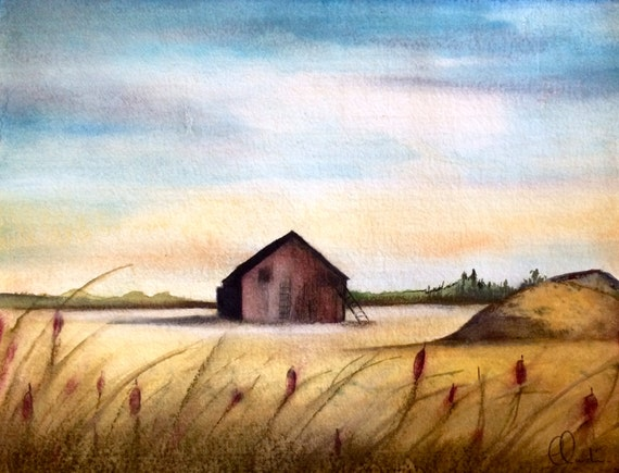 the barn art print 8 x 10 inches
