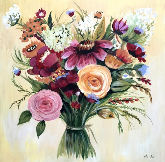 "Mother's day bouquet ""Julie"" art print"