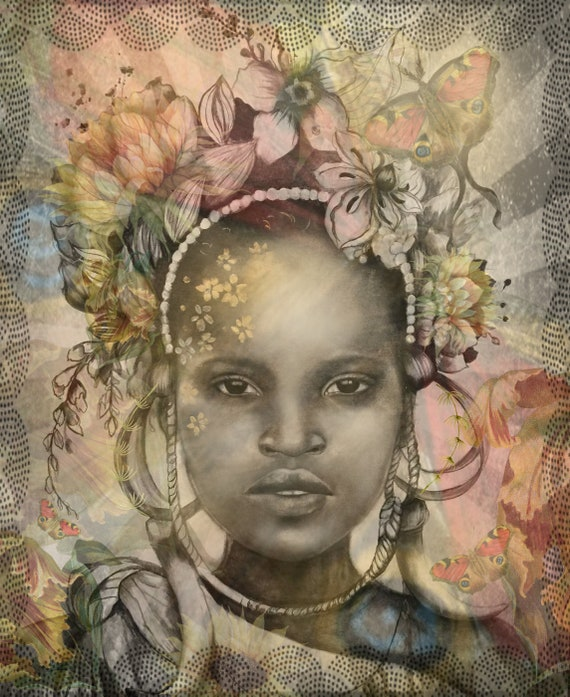 woman Africa inspired vintage