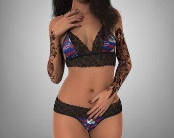 10ae12cf87b8 Buffalo Bills sexy scallop lace top - matching G string lingerie set