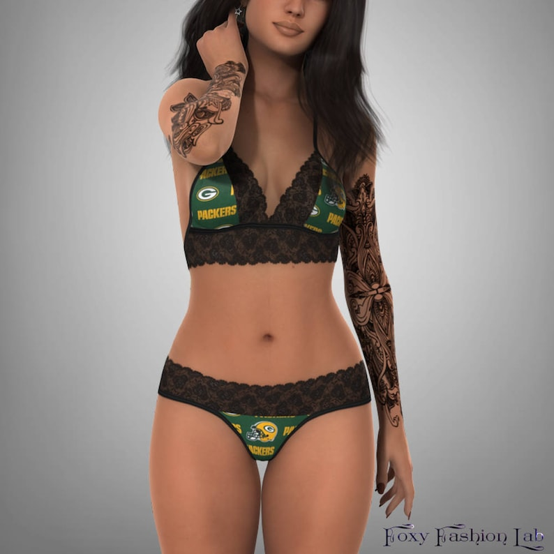 39b210d6c Green Bay Packers sexy scallop lace top with matching G string