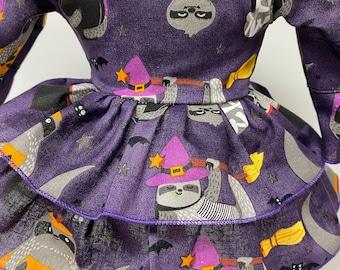 Halloween Sloths, Criss Cross Ruffled Dress for Your 18 Inch Doll B