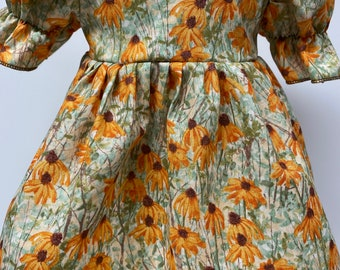 Blacked Eyed Susans Short Sleeved Dress for your 18 Inch Doll B