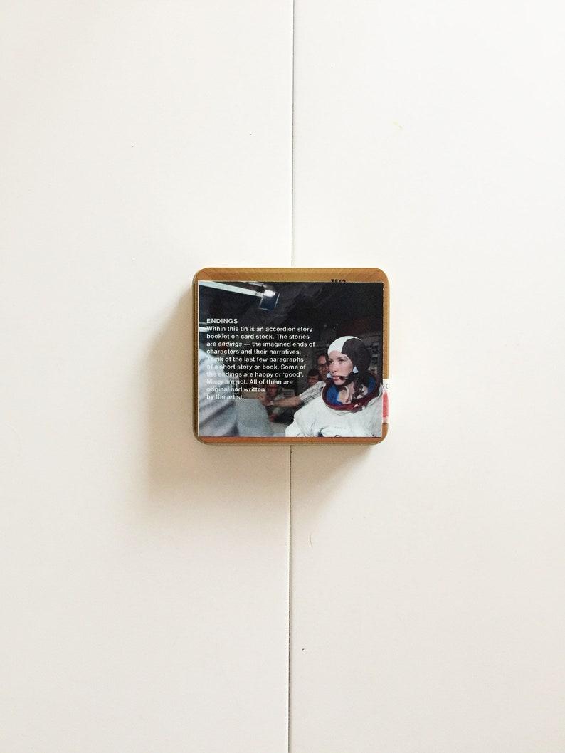 cigar-tin story  art object  art tin  short stories  art gift  literary gift  home decor  accent  concertina  dreams  \u201cEnding 53\u201d